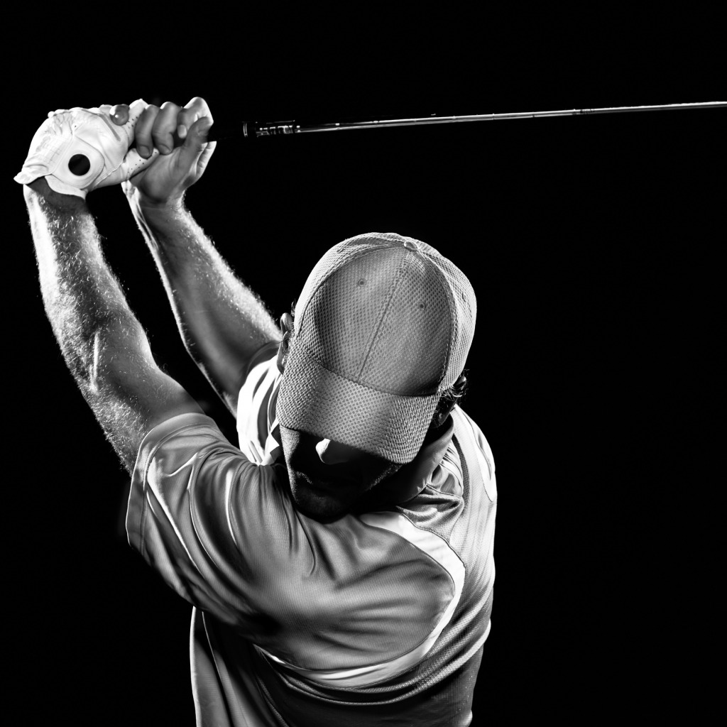 Golf Golfer Black White The Golf Club At Blue Heron Hills