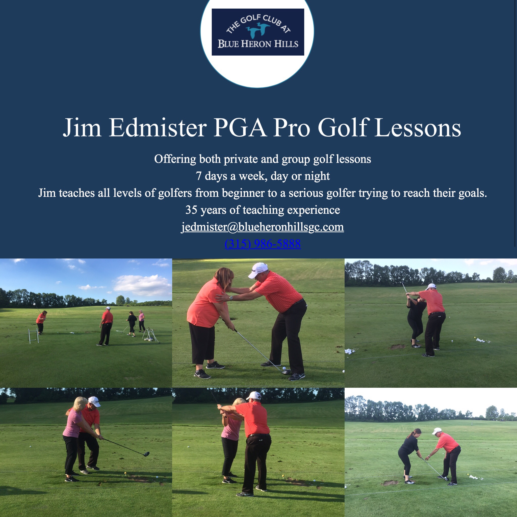 Jim Edmister Golf Lessons