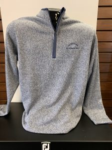 Antigua Mens Quarter Zip Clover
