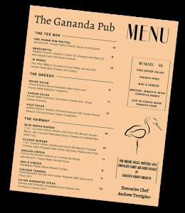 Gananda Pub menu